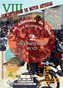 Cartel VIII Concentracion de motos antiguas