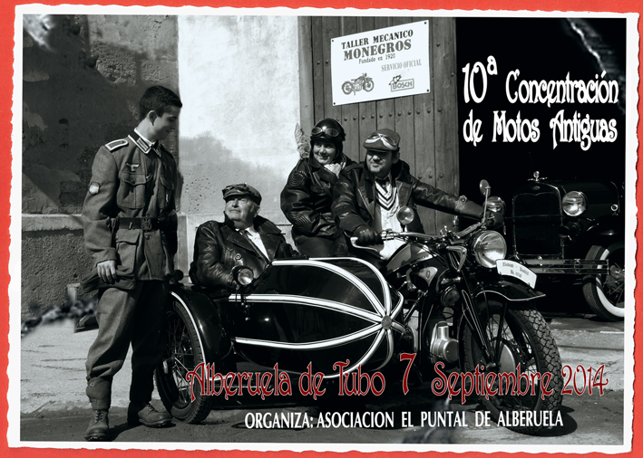 Cartel Concentracion Motos Antiguas Alberuela